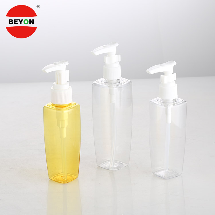 165ml Vintage Biodegradable PET Plastic Square Facial Pump Spray Bottle