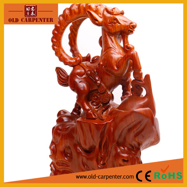The Leading Goat carving ornaments home decoration wood carving