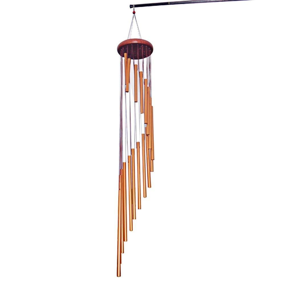 Genenic Long Wind Chimes,35'' Wind Chimes with 18 Aluminum Alloy Tubes with Wood Design,Decor for Outdoor Indoor Patio Backyard