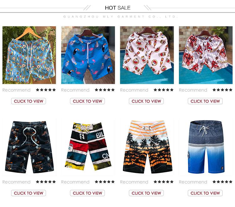 แฟชั่น OEM พิมพ์ชายสวมใส่ว่ายน้ำ Board Beachwear ชุดว่ายน้ำสำหรับผู้ชายกางเกงขาสั้น