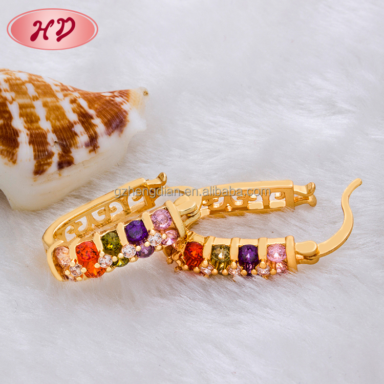 Whole Por Fashion Jewelry 18k Gold Plated Earrings Made In China