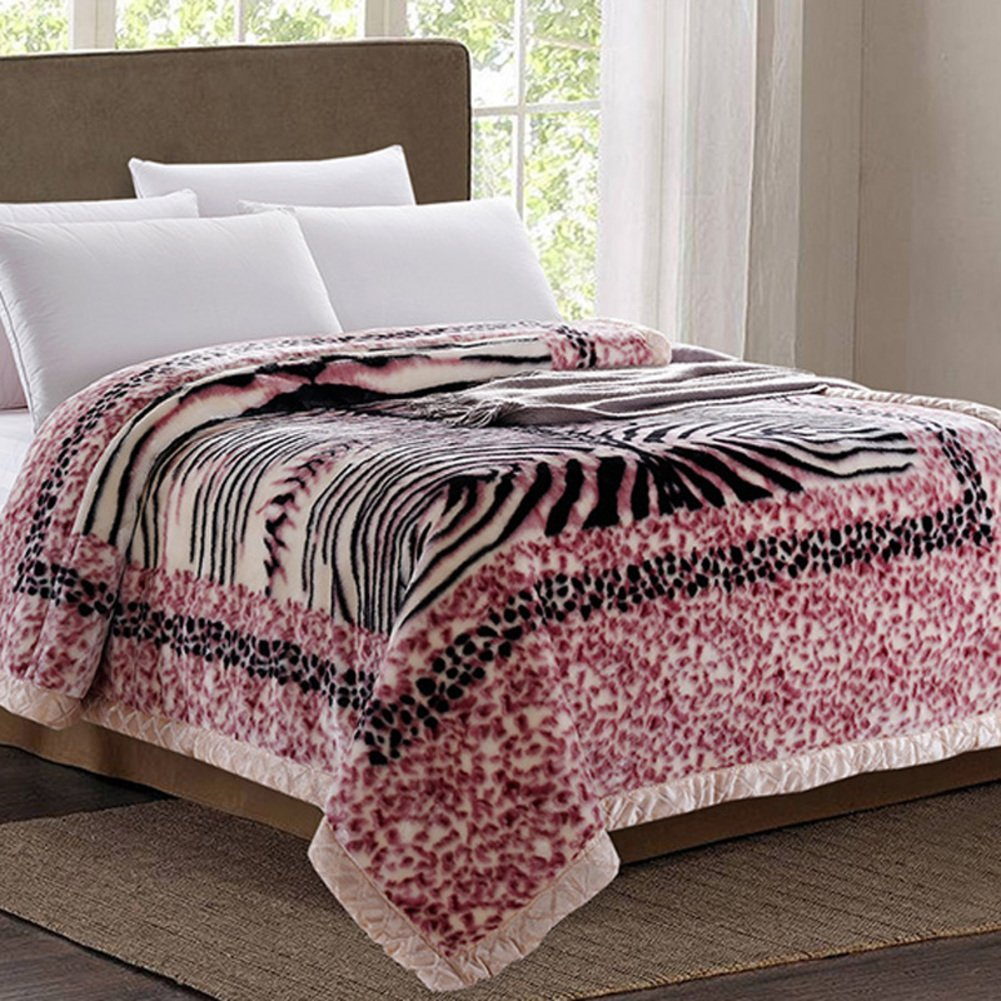 blanket/thicken double-deck blanket / fall/winter wedding blanket/ coral fleece blanket/Single double warm fleece blanket/ blanket-F 150200cm(59x79inch)
