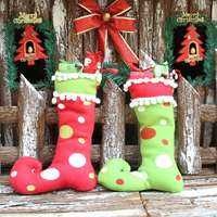 Free Shipping Christmas gifts high integration boots decorations Christmas stockings Christmas decorations for home
