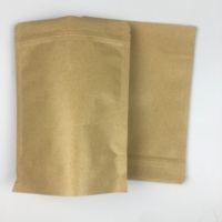 Wholesale High-grade Hermetic Upstanding Ziplock Kraft Bag For Food Packaging