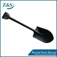 All body steel one piece round point shovel, kinds hand tool