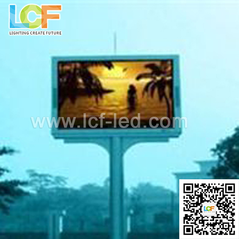 Full color Outdoor advertising LED P8 P10 960*960 iron LED display from LCF