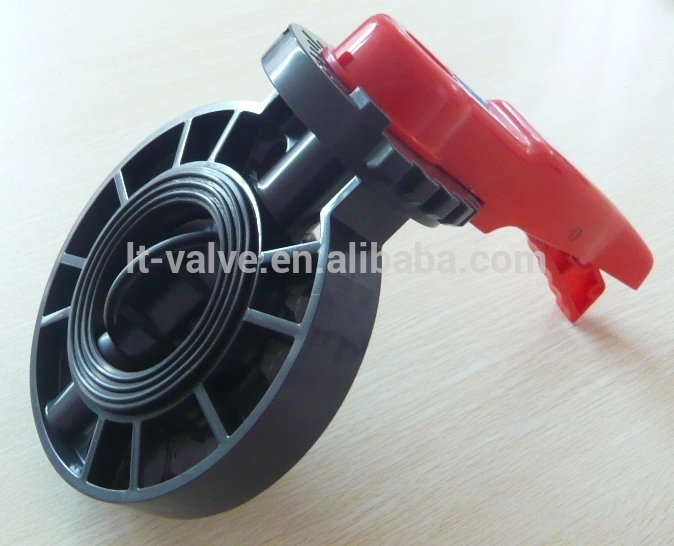 Pvc Plastic Butterfly Valve Dn200 China Supplier