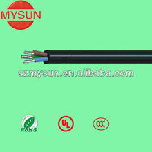 High temperature silicone rubber 3 core flexible wire and cable