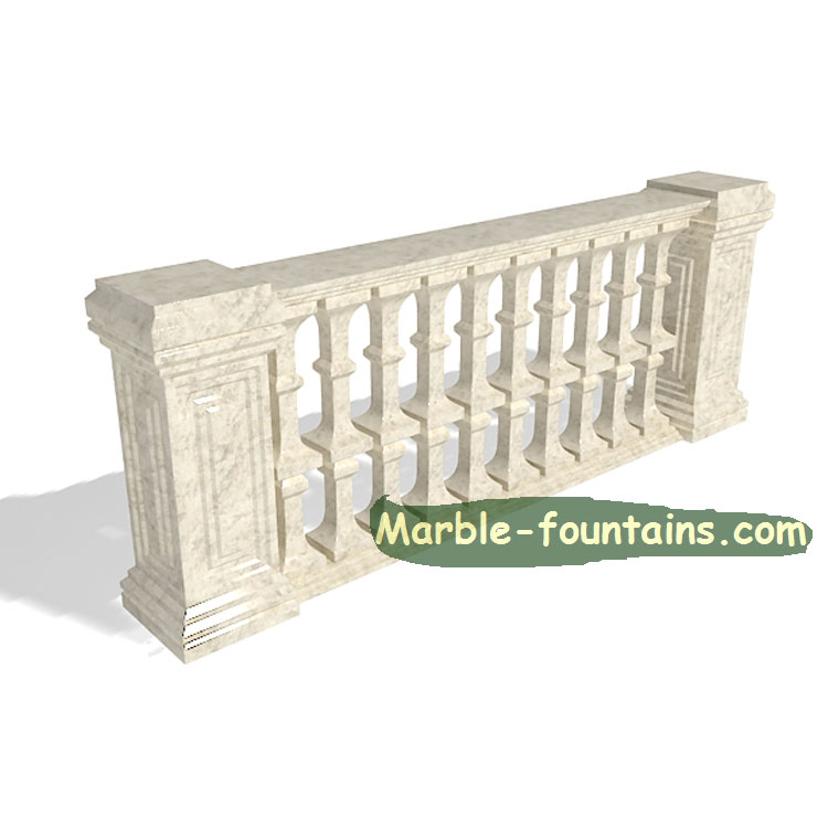 new custom design size square marble balusters railings
