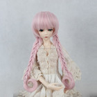 hot-selling colorful synthetic bjd/blythe doll wig with 2 braids