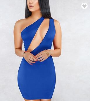 Evening Dress Sexy Single Shoulder Women's Party Slim Dress