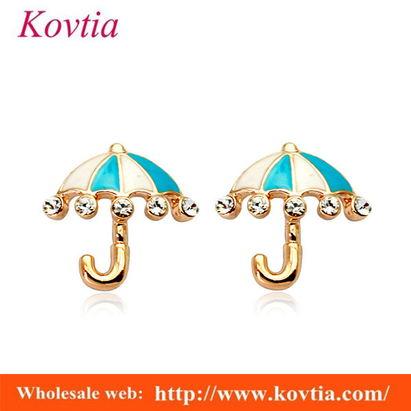 beatifull umbrella earring pave small crystal