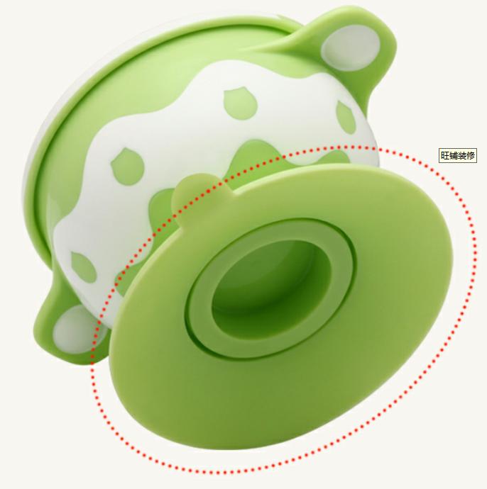Nieuwe Collectie Leuke Ontwerp Hoge Kwaliteit Pp Plastic Baby Peuter Voeden Zuig Kom Met Deksel Met Handvat Zuig Kom Voor baby