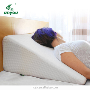 Wholesale Health Memory Foam Backrest Back Pain Relief Triangle Lumbar Support Bamboo Wedge Bed Pillow