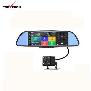 7Inch IPS Touch Screen 3G Android Gps 2 Channel Dual Car Camera FHD Mirror Car Dvr Dash Cam With Dual Lens