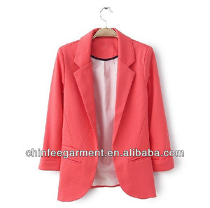 Casual Women Blazers 100% Polyester Ladies Uniforms Suits