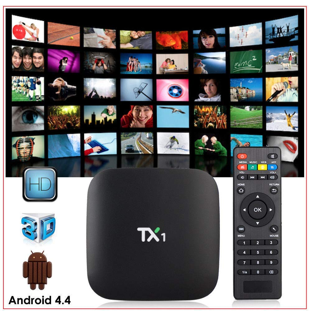 Mocei TX1 Android 4.4 TV Box Amlogic S805 1G 8G Quad Core H.265 Mini HD WiFi Media