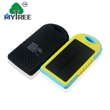 Mytree Waterproof Single Usb Port 5000mah Portable Power Bank Solar Charger For Cell Phone
