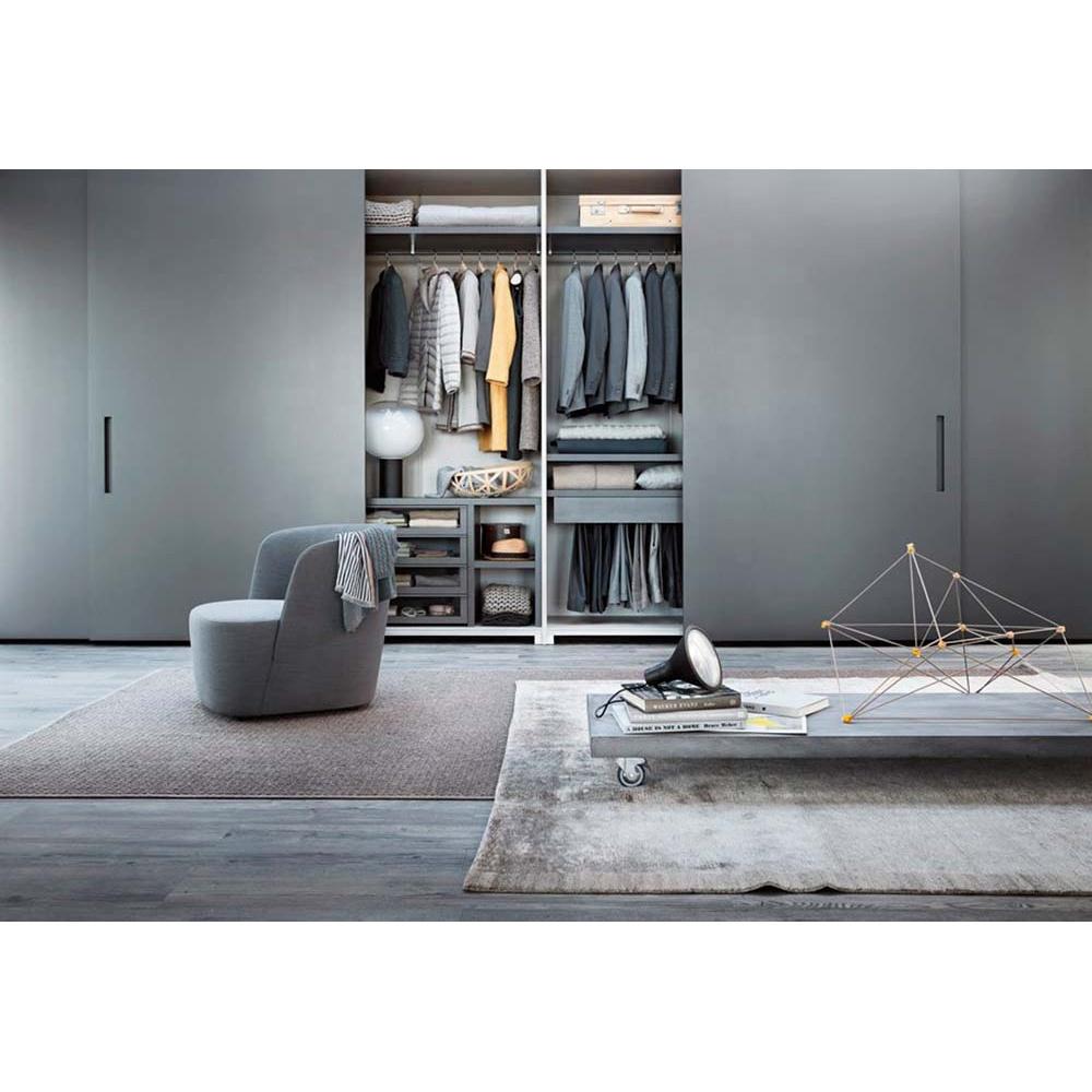 מדהים 3 עיצובים דלת הזזה ארון בגדים מעץ חדר שינה קיר חדר שינה קטן עם DP-41