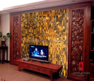 Yellow Tiger Eye Marble Wall Panel Natural Marble Price