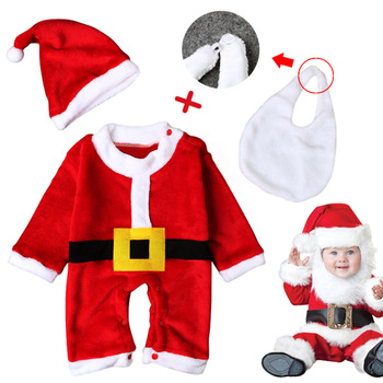 4384f426d05e New Born Baby Xmas Child Winter Wear Warm Outfit Kids Clothes ...