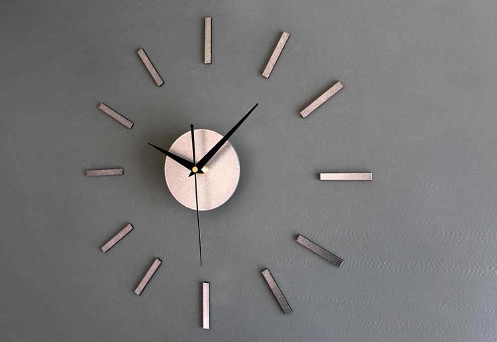 Fancy Noble Metal Tone Wall ⃝ Clock Clock 3D DIY Creative