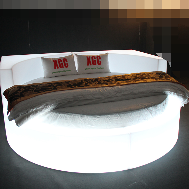 LED plastic single bed for bedroom sun bed theme hotel decor