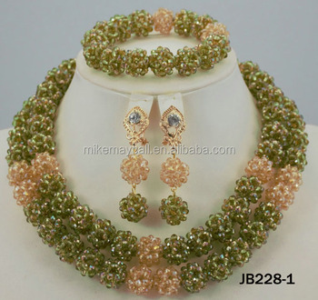 Mikemaycall wholesale designer coral beads necklace indian designer jewellery 2016 fashion jewelry set JB228-1