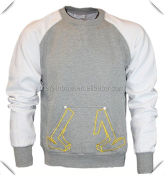 Kangaroo Pockets Wholesale Man Crewneck Sweatshirts With ...