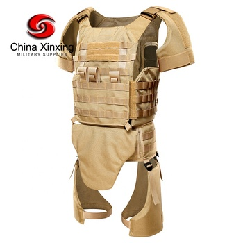 Military Bulletproof Vest Full Body Armor with Shoulder Leg Groin Protector Army Bulletproof Ballistic Vest BV07