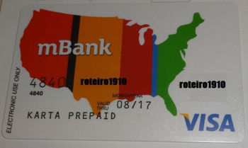Karta Visa Prepaid Anonymous Card Mbank Bre Bank Currency Usd