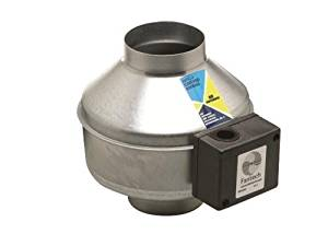 "FANTECH FG6 Centrifugal Inline Fan 6/"" Duct Diameter 120V 305 cfm Metal Housing"