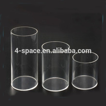 Grote Diameter Acryl Pipes Clear Plastic Buizen met Lasersnijden <span class=keywords><strong>Grafische</strong></span>