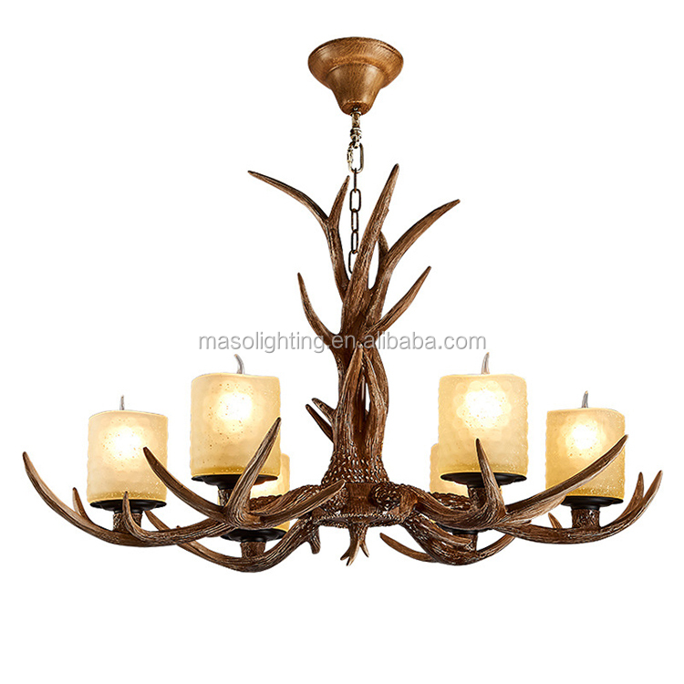 led serial lights chandelier lights house lighting retro decor antler profession factory wholesale