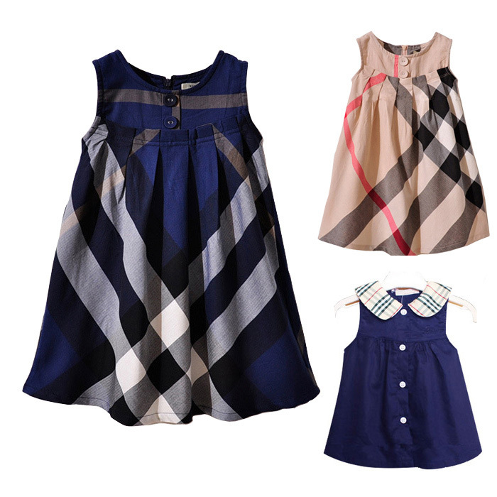 Summer style baby girl clothes cotton girls dress plaid princess dresses for kids new children clothing casual roupa infantil