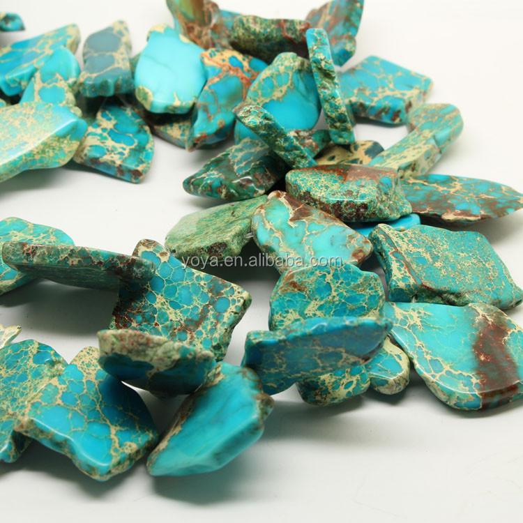Sm3063 Sea Sediment Jasper Nugget Slab Beads,Aqua Terra Imperial ...