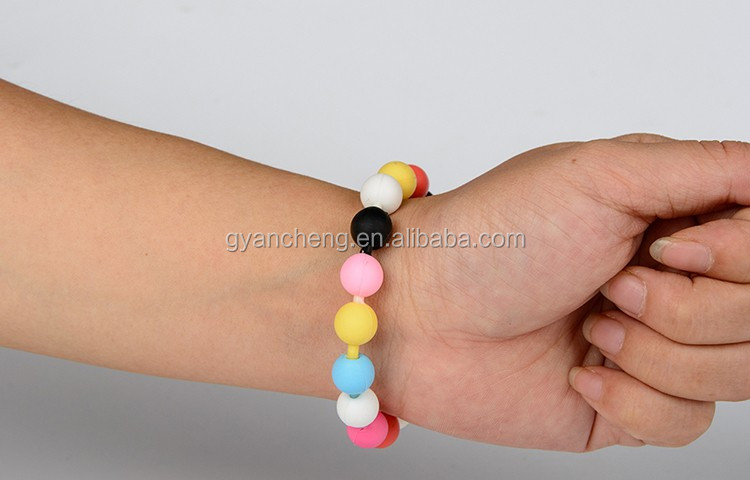 Wholesale fashion diy rainbow lucky name elastic seed bead bracelet