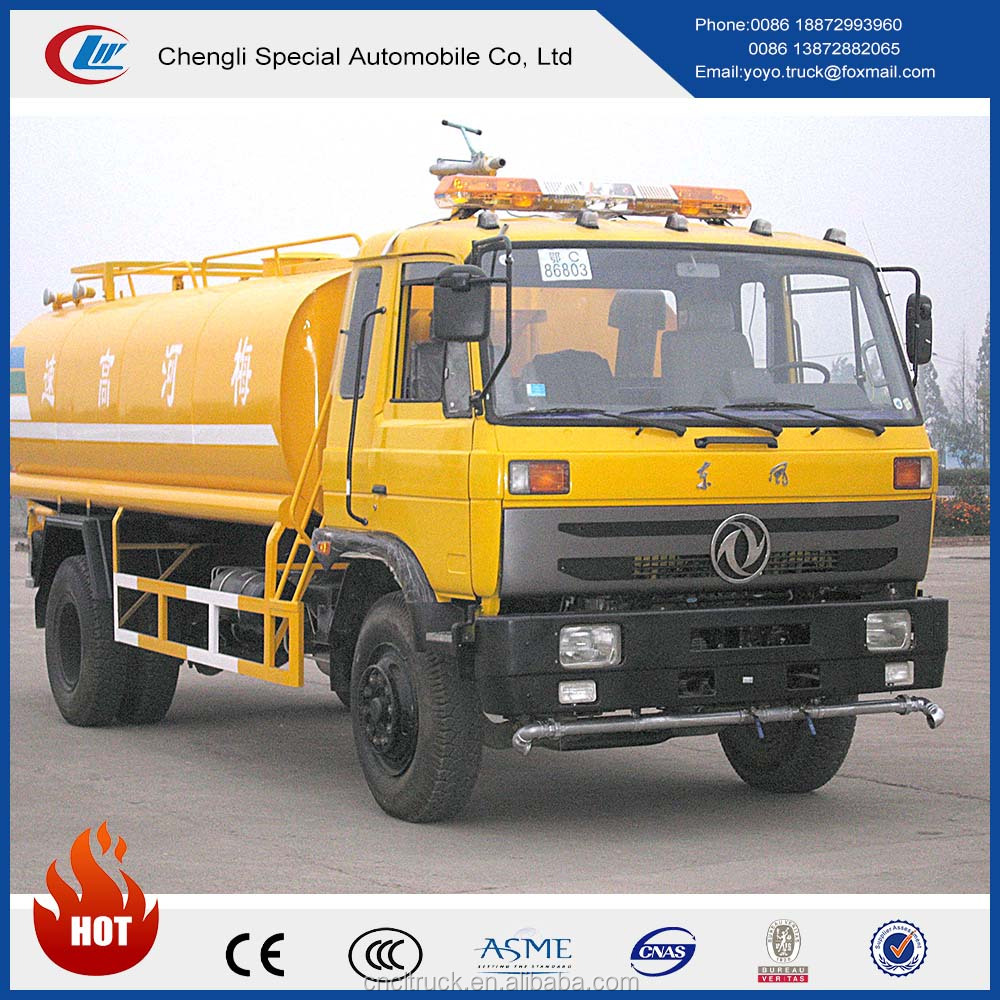 Dongfeng 8000litres Road water sprinkler cleaning tanker for sale
