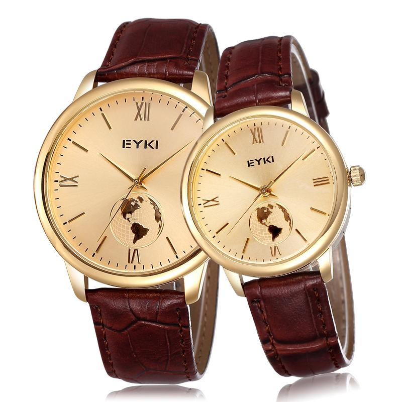 Buy 2015 eyki brand japan movement roman number world map men women buy 2015 eyki brand japan movement roman number world map men women gold case watch luxury brand lover genuine leather strap watches in cheap price on gumiabroncs Gallery