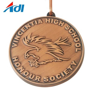 Cheap custom high school society activity logo letter medals