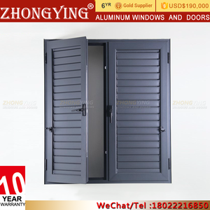 Sand Trap Mechanism Automatic Aluminium Window Louvre , Aluminum Sunshade Adjustable Sun Louver Shutter
