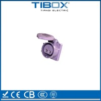 TIBOX CCC, ISO9001 certified 2 pin female connector