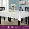 antiskid flannel backing pvc table cloth with wave lock stitching edge