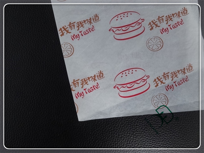 Coated food grade greaseproof paper for burger wrapping