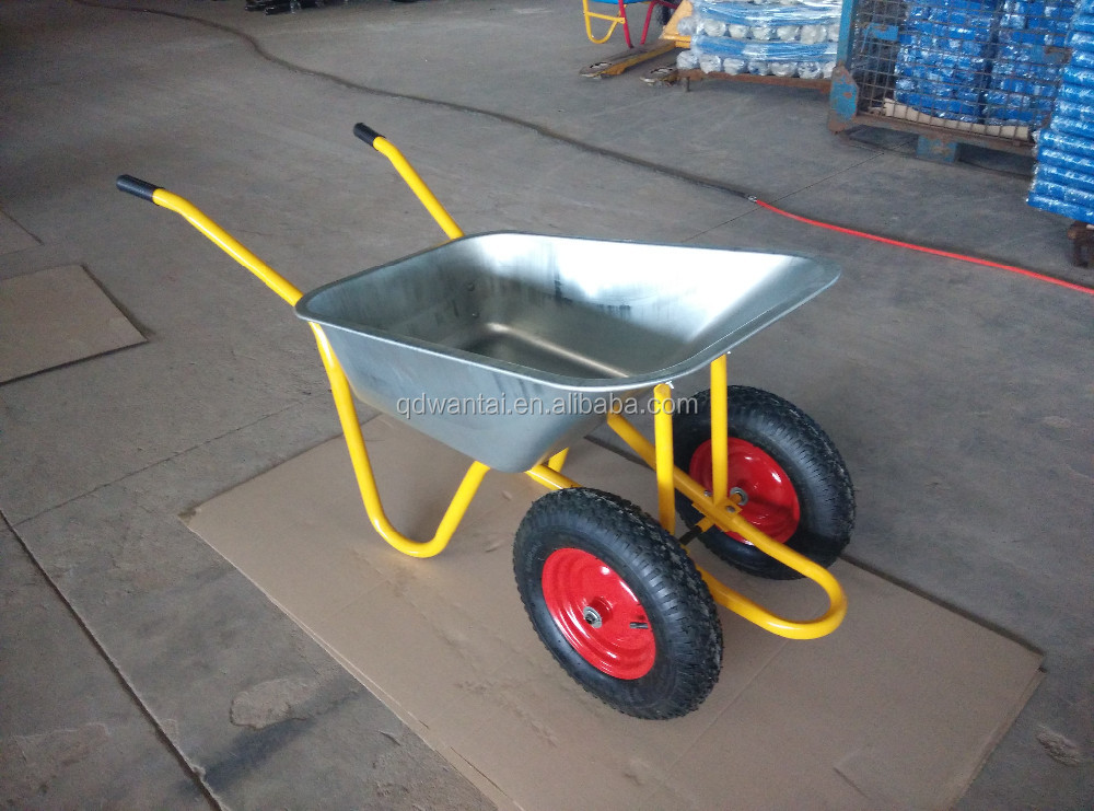 twin wheels WB5009M galvanized wheel barrow