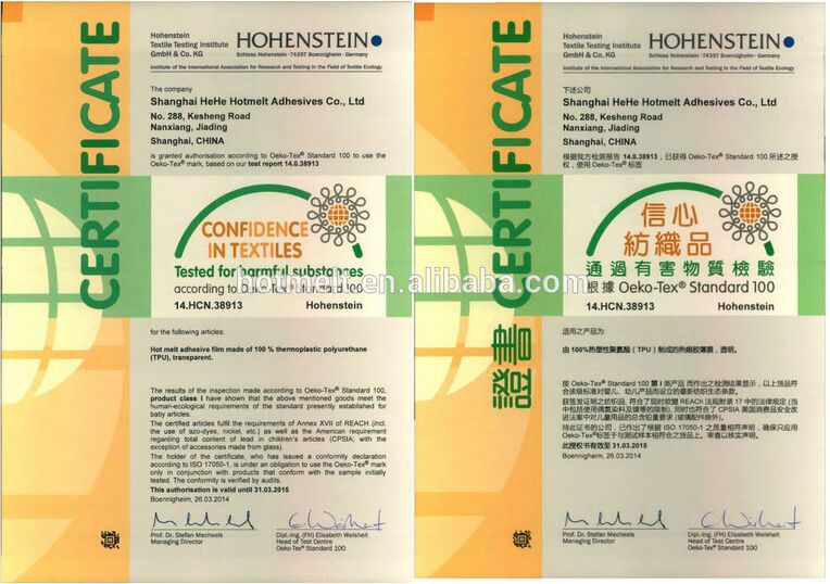 PO Hot Melt Adhesive Film for Textile Fabric Embroidery Patches