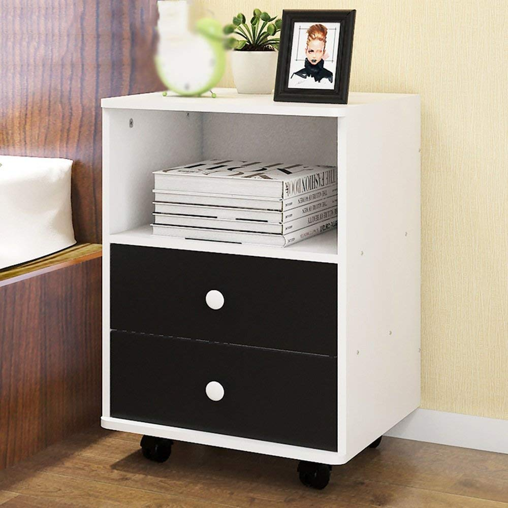 AiHerb.LT nightstand Bedside Cabinets Lockers With Drawers Bedroom Lockers Bedside Cabinets (Color : D-384050)