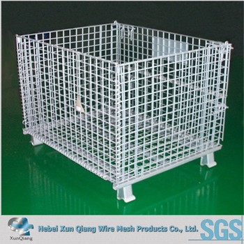 Sh Crate Storage Bin Wire Mesh Container Cage With Removable Shelf Bracket