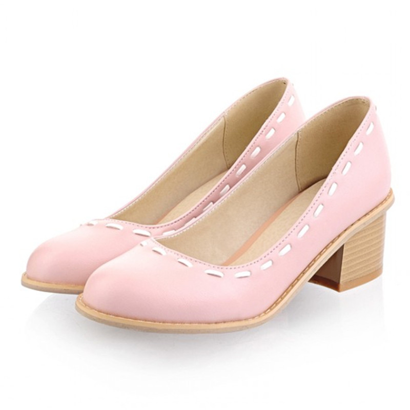 Buy Large Size 9 10 women shoes chunky low heel pumps square heel concise  for office lady shoes 8-05 in Cheap Price on m.alibaba.com e862867fb