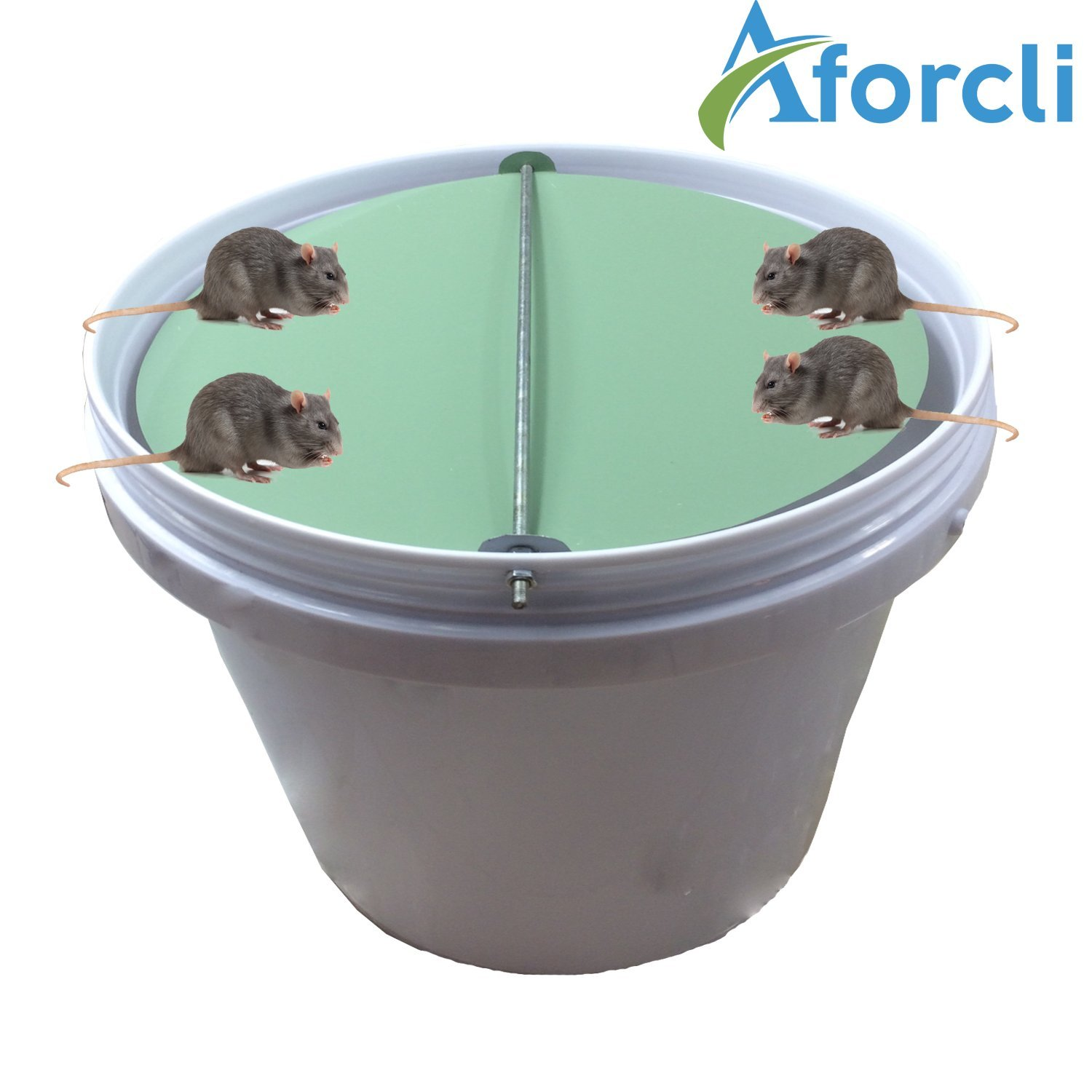 Aforcli  (Version 360 Degrees) (5 Gallon Bucket) - Catch Alive - Humane - Kill/No Kill Trap for Mice,Rats & Other Pests & Rodents